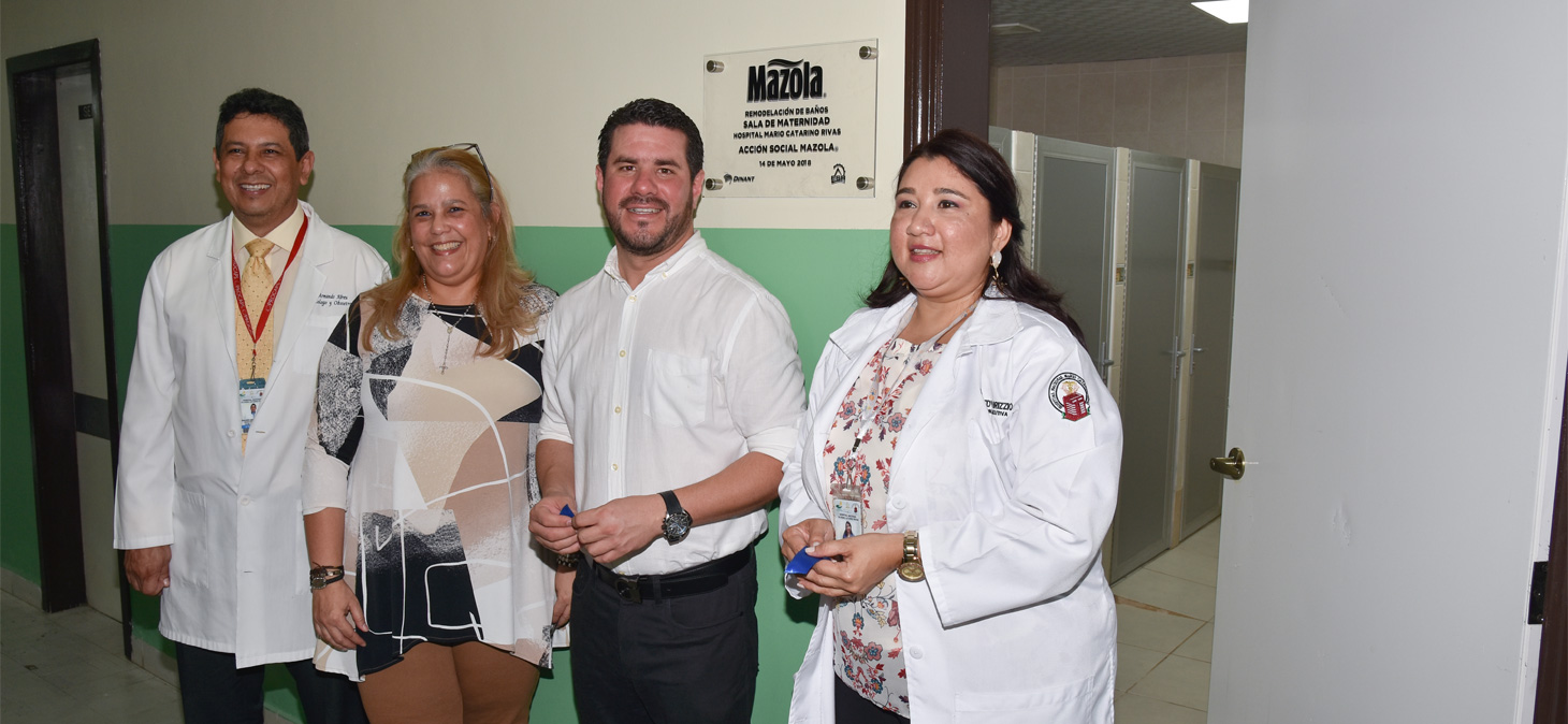 Mazola renovates the bathrooms in Mario Catarino Rivas Hospital