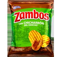Zambos Plátano con Chicharrón