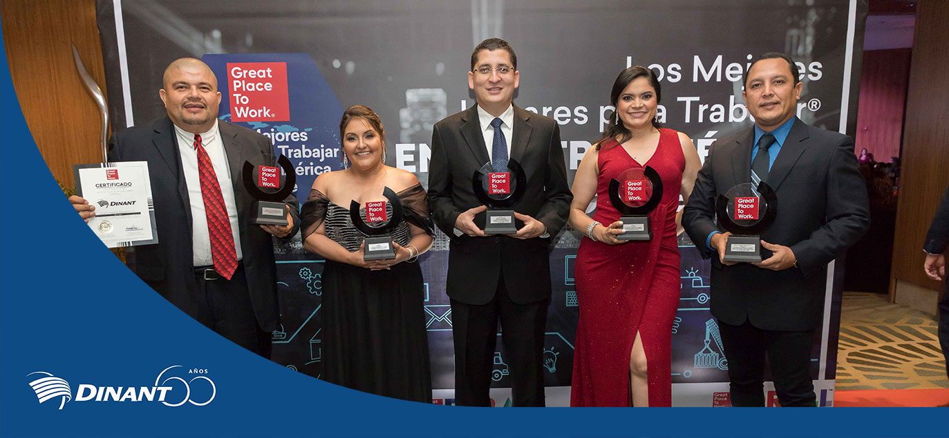 Dinant is recognized among The Best Places to Work in Central America and the Caribbean 2020